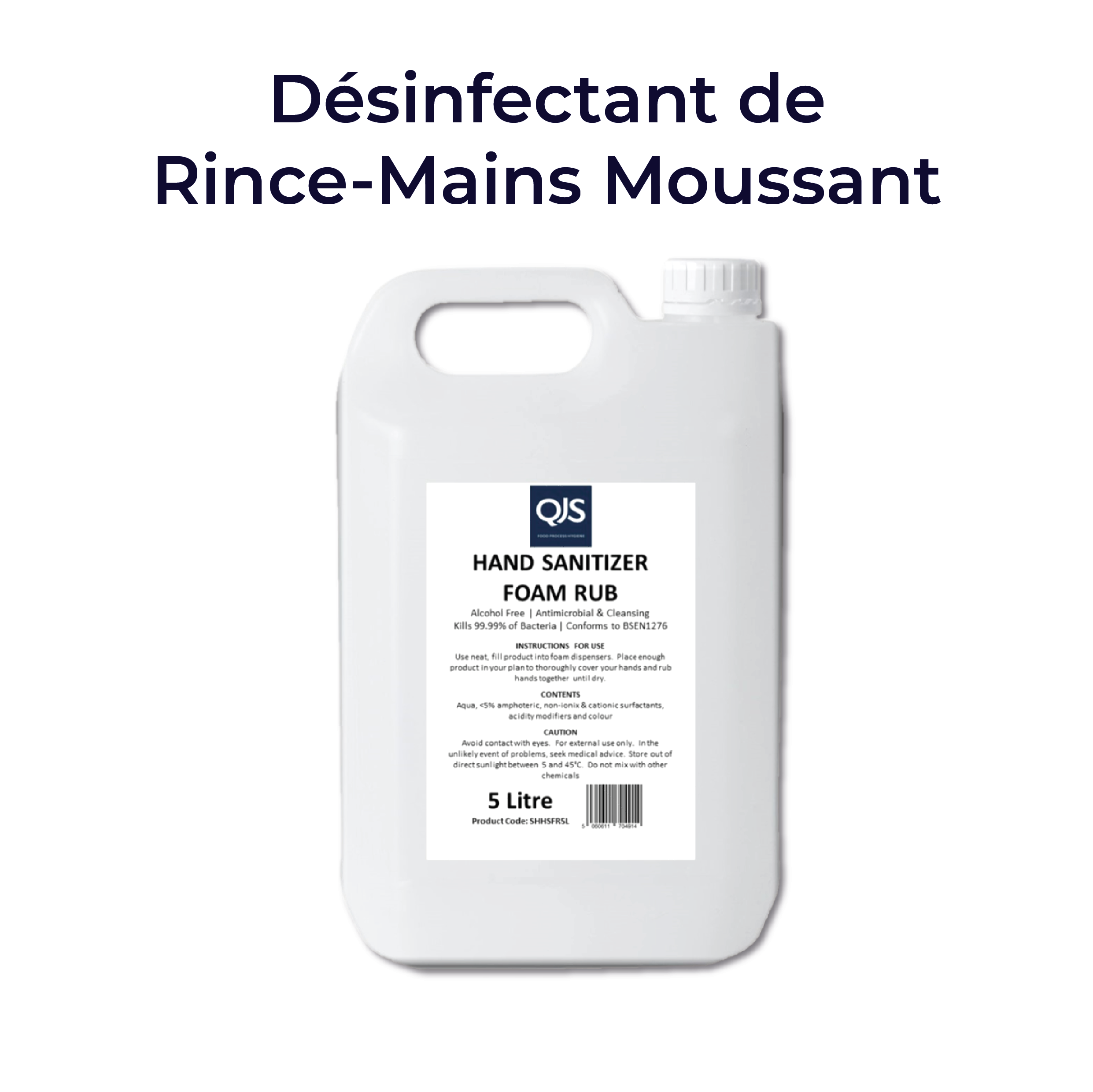 Désinfectant de Rince-Mains Moussant